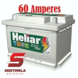 Bateria Heliar Super Free 60 Ah - 24 Meses de Garantia Atendimento 24 Horas