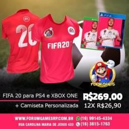 Camiseta Personalizada FiFa 20 do Xbox e PlayStation 4