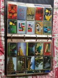 Coleção cartões telefônicos antigos (972 cartões)