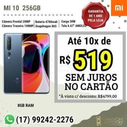 Mi 10 - Linha Super Premium - (256gb ROM) NF LACRADO PRONTA ENTREGA