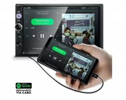 Central Multimídia Mp5 7'' E-tech Espelha Ios E Android Usb - novo