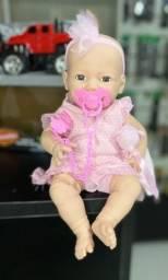 Boneca Bebê Estilo Reborn Menina Dengo c/ Chupeta Novo Loja Promoção Smart