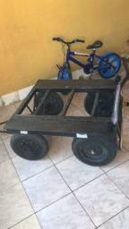 Mini carrocinha para moto ou bike
