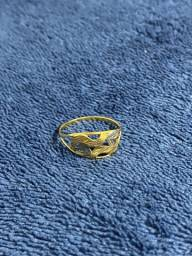 Anel de ouro Amarelo - Branco 18k/750