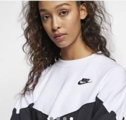 Blusão cropped Nike Sportswear Heritage