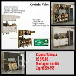 Cozinha Valência/ Montagem Grátis.