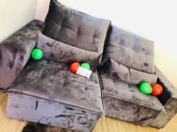 Sofá Retrátil e Reclinável Luxo Pillow top 8cm Espuama D33