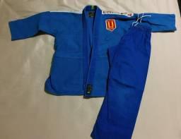 Kimono trançado infantil M03 azul