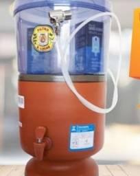 Filtro de barro com cabeça em acrílico abastecimento automático