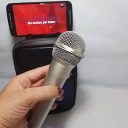 Caixa de som Bluetooth + Microfone com fio (Entregas Belém e Ananindeua)
