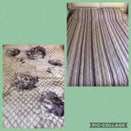 Cobertor dupla face de um lado edredon outro microfibra tamanho casal novo comprar usado  São Paulo