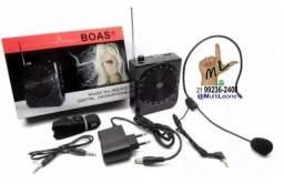 Microfone Digital Megafone Amplificador Kit Professor Palestrante Vendedor Multifunção