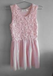 Vestido de festa rosa - Infantil