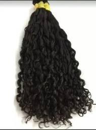 Cabelo Humano Cacheado Solto Mega Hair 50 Gramas 55cm
