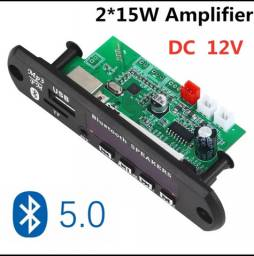 Placa Amplificada 15+15 (30watts) Usb Mp3 Fm Aux Bluetooth barril Heineken