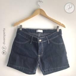 Short Jeans Escuro Costura Aparente - Tam.42