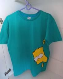 Blusa masculina com estampa do Bart Simpson