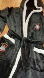 Roupão em Tecido Térmico Fleece Corinthians