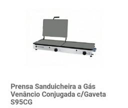 Chapa com Prensa Sanduicheira a Gás