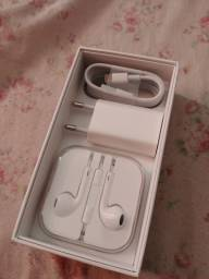 Acessórios originais Apple Novos - Fone de ouvido c fio + tomada e cabo