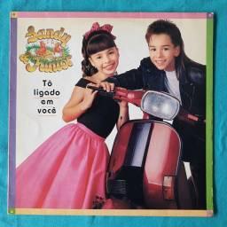 To ligado em você - Sandy e Júnior (LP) - Bem Conservado