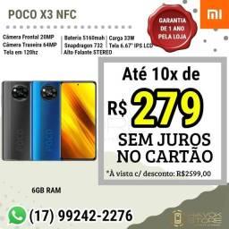 POCO X3 NFC, Linha GAMER XIAOMI - 128gb ROM PRONTA ENTREGA NF