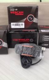 Webcam para PC, qualidade HD 720p, com Microfone. Nova, na caixa. Aceito cartão