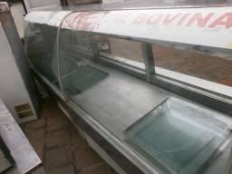 Balcão de açougue - 3mt - precisando de reforma - em aço inox- camara estocagem