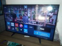 Aoc Smart De 43p, Full Hd Com Wi-Fi, Entradas: Hdmi, Usb, Fone Ouvido e Lan-Internet