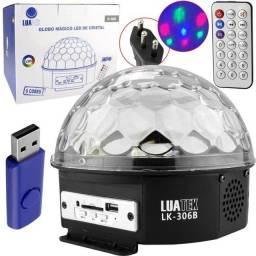 Bola Maluca Led Mp3 Bluetooth Globo Magico Luatek Lk306