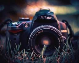 Nikon D5000 + Nikkor 50mm 1.8d + Case para câmera