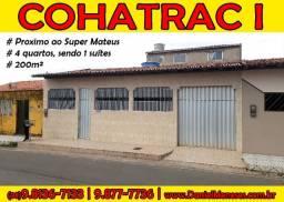 Alugo casa em via publica, prox. ao Super Mateus do Cohatrac I, 4 quartos