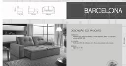 Sofá Retrátil e Reclinável Barceona 2,50cm e 2,90cm