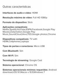 Mídia Ultra Digital Cast G5 Chromecast