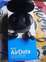 Fone de ouvido..<br>Redmi AirDots. Possuem Bluetooth 5.0