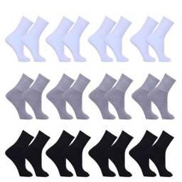 Pacote de meias com 12un cor mista