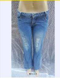 Calça jeans Mac cori flare com gliter tam 38