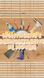 Montagem ou desmontagem de móveis, guarda roupas em geral e etc