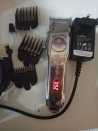 Máquina de cortar cabelo kemei km-1986 profissional