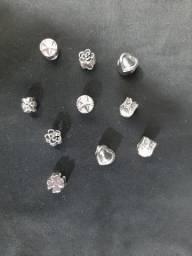 Berloques banhados a prata