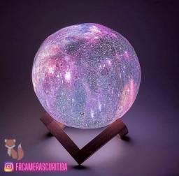 Linda luminária lua galáxia nova