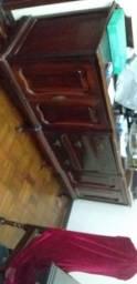 Vendo jogo de moveis antigos madeira maçiça