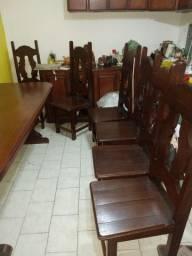 Mesa de madeira mogno 2metros!!!
