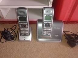 2 telefone  sem fio intelbras seminovo