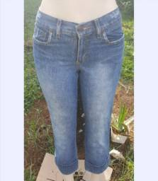 Calça jeans capri Anne kanner tam 40