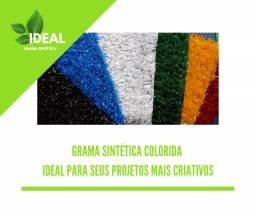 Grama Sintética Decorativa Ideal Play Colors 12mm (várias cores)