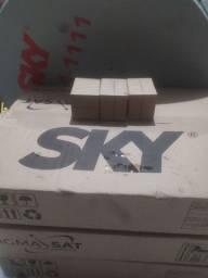 Antena sky Ku nova com lnb 50 reais cada