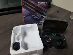 Fone de Ouvido Bluetooth com PowerBank