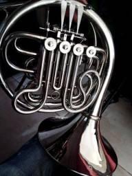 Trompa Dupla Sib/Fá Niquelada Maestro revisada por luthier