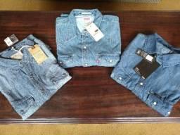 Vendo 3 Camisas Jeans Lee, Levis, Richards - Tamanho G, XL - Novas - Originais